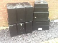 4 large water storage tanks free to collector