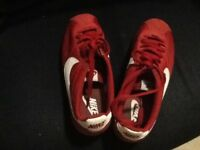 Red Nike. Size 6
