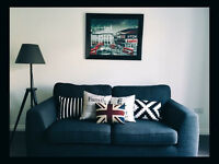 2 x Charcoal 3 seater sofa