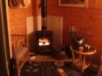 Wood burner fire or coal with flue