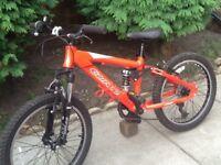 Carrera detonate dual suspension child's mountain bike