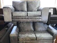 Panama Glitz 3+2 Seater Crushed Silver-NEW