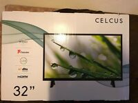 "Brand new 32"" LED TV built in free view"