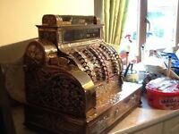 Old cash register and reciet printer beautiful condition