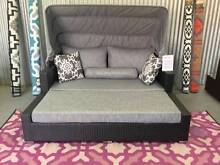 OUTDOOR DAY BED convertible lounge set & ottoman + sunshade Hendon Charles Sturt Area Preview