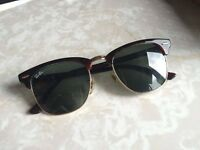 Original RayBan Clubmaster - Brown/Gold - Small