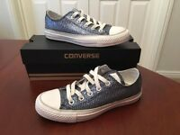 Converse - Blue Sparkly, UK Size 4