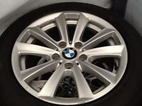 """2014 17"""" BMW 530D SE Alloys With 4 New Run Flat Tyres For Sale"""
