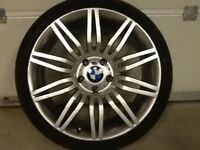 19INCH 5/120 BMW SPIDER REPLICA ALLOY WHEELS WITH WIDER REARS&TYRES,FRONT RIMS 8.5/19 REARS 9.5/19