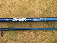 NEW 12 FOOT BEACHCASTER/PIER ROD, COMES WITH NEW FIXED SPOOL REEL WITH LINE