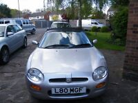 Classic British sports car - MGF - private reg. included.