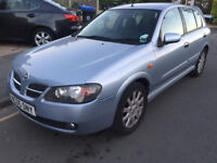 2005 NISSAN ALMERA 1.5 SX 5DR, 3 OWNER, ONLY 53K GUARENTEED MILAGE WITH SERVICE HISTORY,