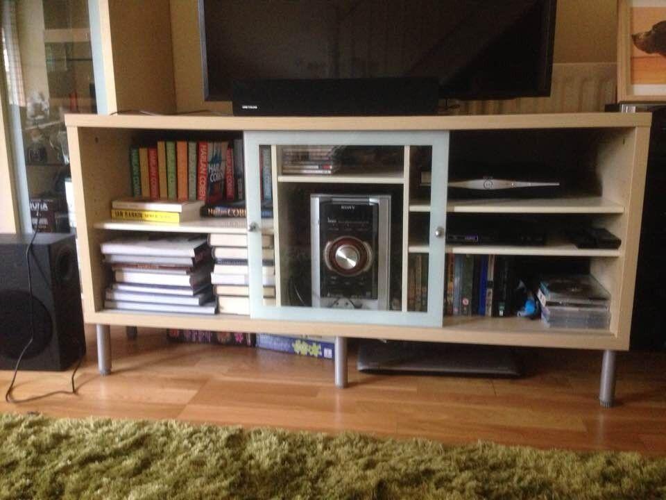 Ikea Magiker Birch Veneer Amp Glass Tv Entertainment Media