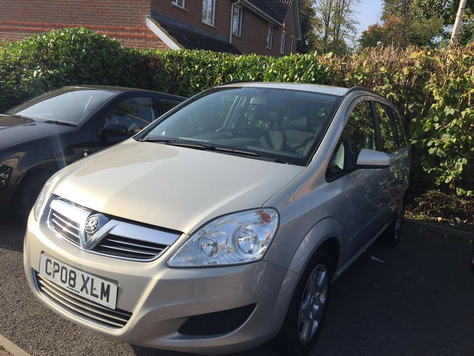 2008 VAUXHALL ZAFIRA 1.8 PETROL EXCLUSIVE MPV, LADY OWNER, SEVEN SEATER, 12 MONTHS MOT, ONLY 77K