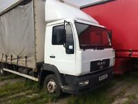 7.5t MAN 54 Plate Curtainsider or Chassis Cab