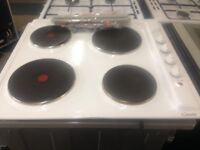 white candy 59cm electric hob brand new