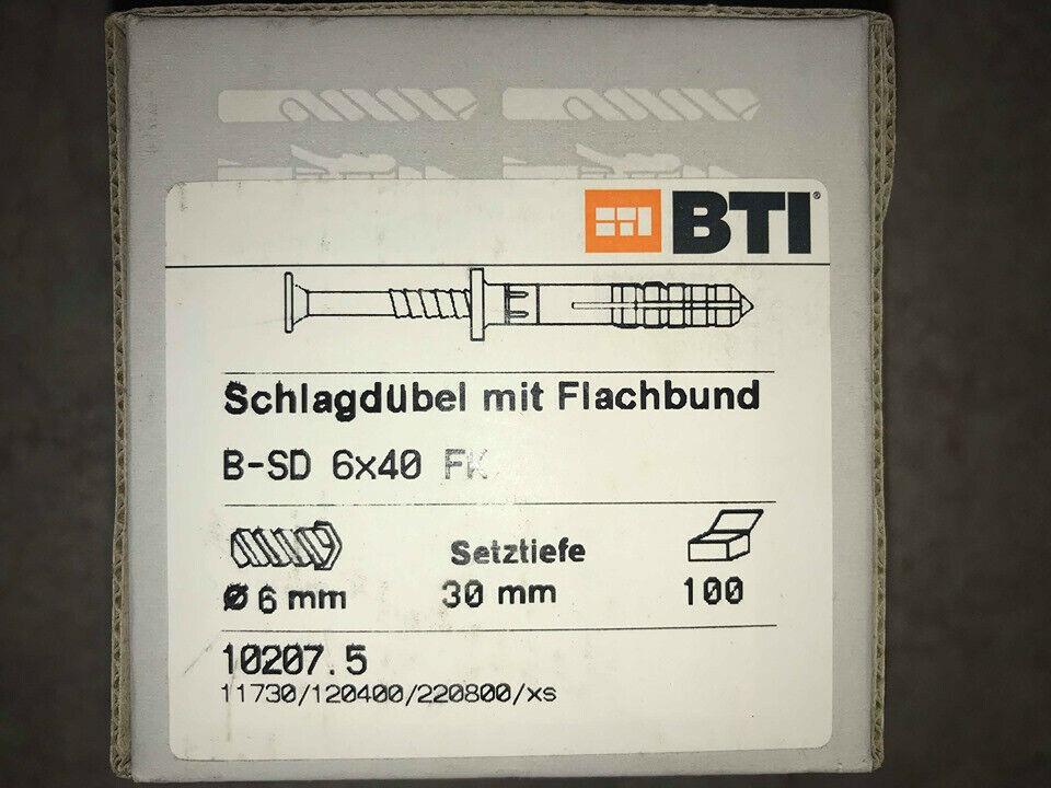BTI Schlagdübel mit Senkkopfnagel B-SD 6 x 40mm (VE= 100 Stück)