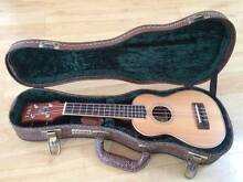 Timberidge Soprano Ukulele + Deluxe Brown Tiki Paisley Hard Case Thirroul Wollongong Area Preview