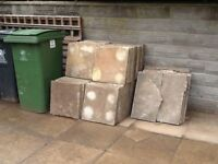 Used precast concrete paving slabs