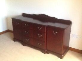 Dark wood sideboard. Good condition ex archibalds