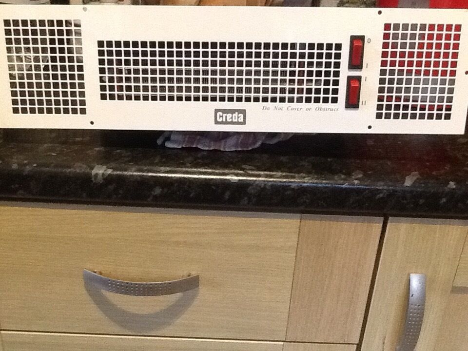 Creda 230V kick space kitchen heater/plinth heater