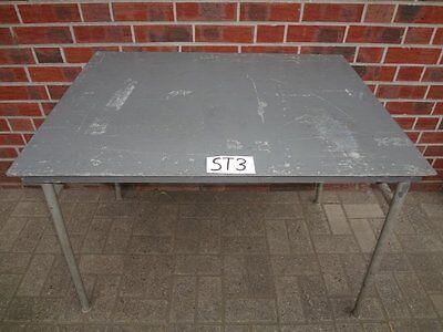1x Stahltisch Klapptisch Tisch Stahl klappbar 1000x785x750 ex Bundeswehr (ST3)