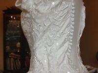 White designer wedding dress