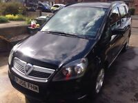 Vauxhall Zafira Club 1.6v Petrol 2006 7 seater MPV Black LOW MILEAGE