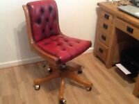 Leather Chesterfield Home Office Chair