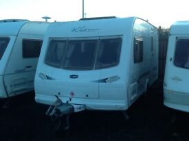 2004 luner clubman 475/2 ck /2 berth end changing room with fitted mover & awning