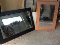 2 large mirrors