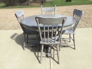 Farmhouse Style Oak Table and 4 Chairs