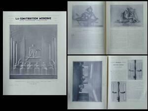 CONSTRUCTION MODERNE 1931 ROME THEATRE BARBERINI, PIACENTINI, SERRURERIE BRACHET - France - Librr La Construction moderne - n24 - 1931 avec neuf pages sur le thétre Barberini Rome (Arch. Piacentini, Sculpt. Biagini), six pages sur la sérrurerie moderne (Brachet, Bourdelle, Gigou,...) illustrations en noir et blanc 23,5 x 31 cm - 20 pa - France