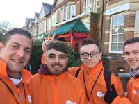 UK-Wide Door to Door Fundraising - weekly guaranteed basic plus bonuses