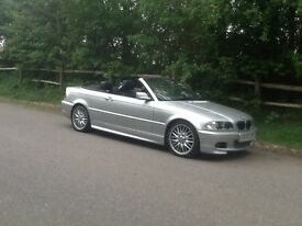 """BMW 325 SPORT CONVERTIBLE EYECATCHING MET SILVER 18""""ALLOYS- S/HISTORY LEATHER SPORT G/ BOX"""