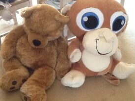 Two large soft toys