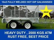 10x5 FULLY WELDED  HOT DIP GALVANISED TRAILER 2000 KG GVM Dandenong South Greater Dandenong Preview