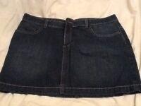 Denim mini skirts!!