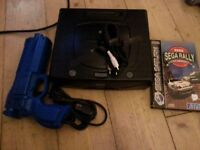 SEGA SATURN WITH CABLES AND 1 GAME retro, nintendo, atari, gameboy, playstation