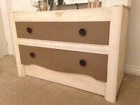 Drawers unit dresser storage pine shabby chic