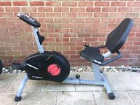 Recumbent exercise bike WITH DISPLAY can deliver