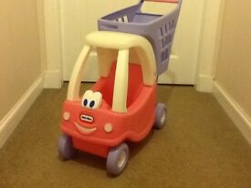 Little tikes dolls car and shopping trolley in excellent condition