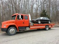FL80 Extended Cab Freightliner Flatbed Tow Truck