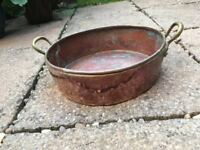 Copper and Brass Coal Bucket/Ash Bin