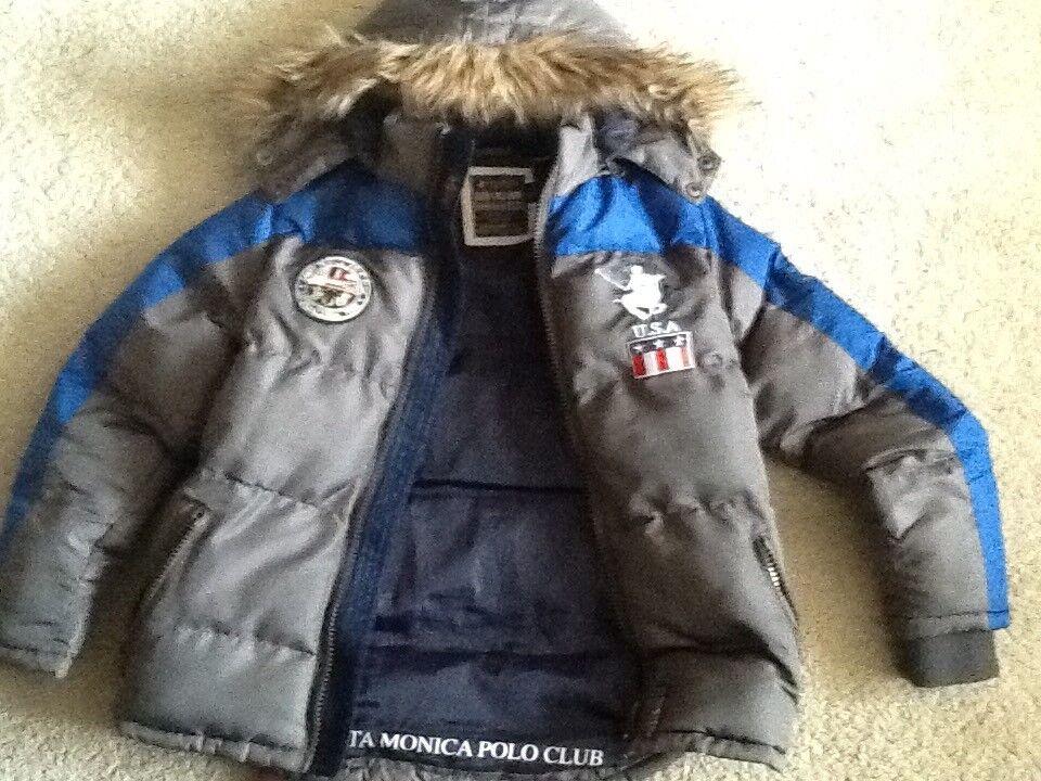 Boys designer jacket, age 9-10, Santa Monica polo club, excellent condition
