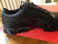 Puma Titan tour black golf shoes size 10
