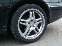 18 inch Mercedes AMG Type Alloy Wheels & Tyres (e,c,s class,w211,w210,w202)