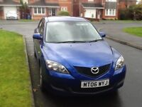 06 PLATE MAZDA 3 5 DOOR 1.6cc ONE OWNER FROM NEW MOT AUGUST 2018