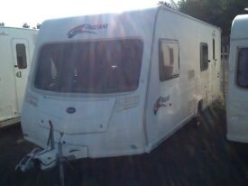 2007 Bailey pageant Bretagne 6 berth with fixed bunk beds