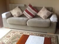 3 Seater, 2 Seater sofas and Foot Stool